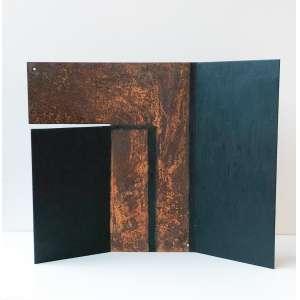 Alberto Martins - 1958 - Sem título - relevo em aço e tinta automotiva - 38 x 47,5 x 8 cm - 2013 - Obra doada ao IAC Instituto de Arte Contemporânea. O pagamento será efetuado diretamente ao IAC.