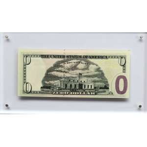 Cildo Meireles - 1948 - Zero Dollar - impressão em off set - 6,6 x 15,6 cm - assinada