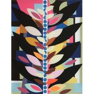 Beatriz Milhazes - 1960 - O passeio em rosa e marrom - serigrafia 26/50 - 53,5 x 41 cm - assinada no verso - 2016 - Edição comemorativa 110 anos da Pinacoteca de São Paulo. - Acompanha certificado da Artista.
