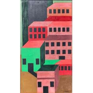 Arnaldo Ferrari - (1906 - 1974) - Sem título - óleo sobre cartão - 50,8 x 28,5 cm - assinada canto inferior direito