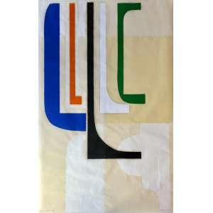 Julio Villani - 1956 - Estrutura vertical do alto - óleo sobre papel - 150 x 97 cm - assinada canto inferior direito - 2007
