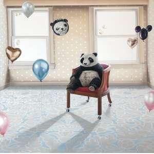 Ana Elisa Egreja - 1983 - O panda abandonado - óleo sobre tela - 160 x 160 cm - assinada no verso - 2011