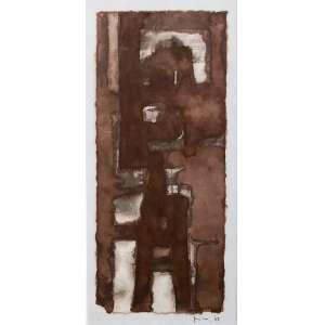 Mira Schendel - (1919 - 1988) - Sem título - ecoline sobre papel - 37 x 17,5 cm - assinada canto inferior direito - 1963