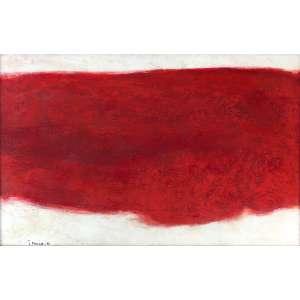 Tomie Ohtake - (1913 - 2015) - Sem título - óleo sobre tela - 66 x 100 cm - assinada canto inferior esquerdo - 1966 - Reprodução: Livro Tomie Ohtake, 1983, sob nº 75.
