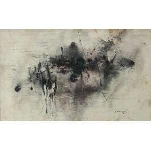 Antonio Bandeira - (1922 - 1967) - Sem título - aquarela e nanquim - 27 x 44 cm - assinada canto inferior direito - 1963
