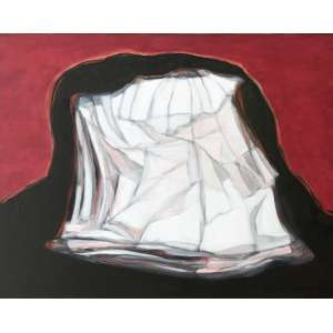 Maria Leontina - (1917 - 1984) - Os Reinos e as Vestes - acrílica sobre tela - 73 x 92 cm - assinada canto inferior direito e verso - 1975 - Com etiqueta Exposição Maria Leontina MAM SP. - Com etiqueta Galeria de Arte Ipanema. - Reprodução: Livro Maria Leontina - Pintura Sussurro, página 211.