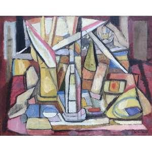Aldo Bonadei - (1906 - 1973) - Sem título - óleo sobre tela - 75 x 95 cm - assinada canto inferior direito - 1960