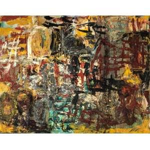 Rodrigo Andrade - 1962 - Sem título - óleo sobre tela - 190 x 240 cm - assinada no verso - 1990