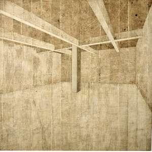 Daniel Senise - 1955 - Sem título - acrílica em colagem sobre madeira - 132 x 122 cm - assinada no verso - 2001