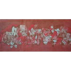 Roberto Burle Marx - (1909 - 1994) - Sem título - pintura sobre tecido - 86 x 190 cm - assinada - 1992