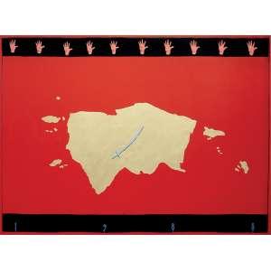 Emmanuel Nassar - 1949 - Oriente - acrílica sobre tela - 148 x 200 cm - assinada centro inferior - 1988 - Reprodução: Livro Emmanuel Nassar, Tadeu Chiarelli, 2011, página 96.