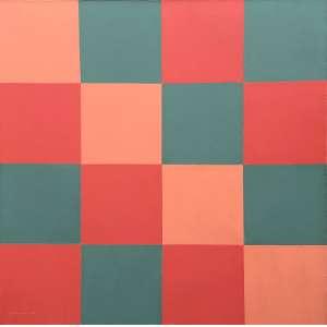 Judith Lauand - 1922 - Sem título - óleo sobre tela - 80 x 80 cm - assinada canto inferior esquerdo - 1975 - Número Acervo 557.