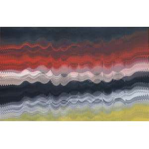 Abraham Palatnik - 1928 - Sem título - acrílica sobre madeira - 108,8 x 170 cm - assinada no verso - 2011