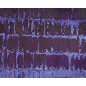 Carlos Vergara - 1941 - Sem título - pigmento sobre lona crua - 155 x 194 cm - assinada no verso - 1996 - Com etiqueta Gabinete de Arte Raquel Arnaud.