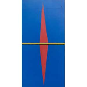 Emmanuel Nassar - 1949 - Sem título - acrílica sobre tela - 160 x 80 cm - assinada superior e verso - 2003