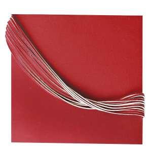Luciano Figueiredo - 1948 - Espaço Laço - Série Vermelho 2 - acrílica sobre lona - 38,4 x 41 cm - assinada no dorso - 2011