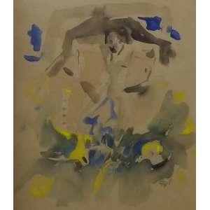 Darel Valença<br>Sem titulo<br>gouache sobre papel - 32 x 27 - assinado frente inferior direito