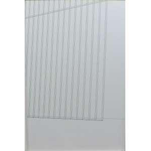 Raul Mourão<br>Área de queda 2 - Poliptico (A - H)<br>Desenho sobre papel - 2002 - 60 x 40 - Assinado e datado 2002