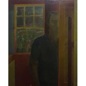 Ivan Marquetti<br>Auto Retrato<br>Óleo sobre Tela - 1970 - 100 x 81 - Assinado e datado