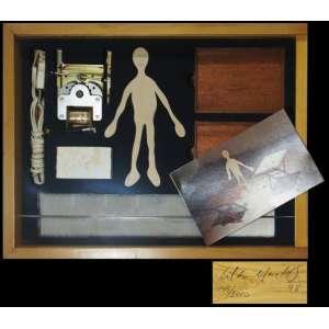 Cildo Meirelles<br>Camelô<br>Objeto em madeira - 1998 - 8 x 39 x 30 - Assinado e datado