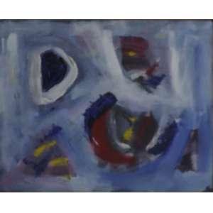 George Iso<br>Abstrat White<br>Acrílica sobre tela - 1992 - 24 x 30 - Assinado