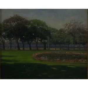 Edgar Walter<br>Praça Paris<br>Óleo sobre madeira - 1945 - 37 x 45 - Assinado e datado