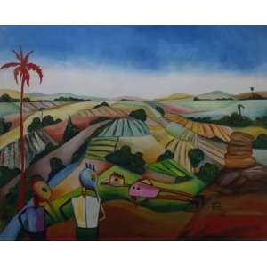 Maty Vitart<br>Sem título<br>Acrílica sobre tela - 1986 - 129 x 158 - Assinado e datado 1986 inferior direito