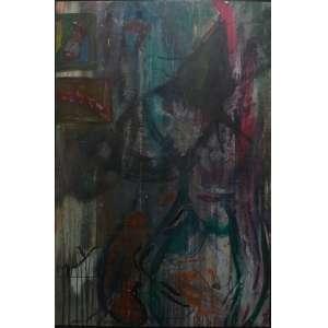 Jorge Guinle<br>Sem título<br>Oleo sobre tela - 148 x 98 - Reconhecido atras por Mario Rodrigues