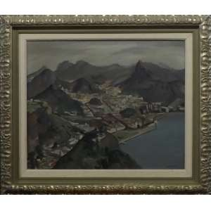 Bustamante Sá<br>Panorama do Rio<br>Óleo sobre Tela - 1949 - 60 x 70 - Assinado