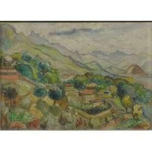 Anita Malfatti<br>Vilarejo<br>Óleo sobre Madeira - Déc 50 - 32 x 45- Assinado - Estudo p/ painel. Apresenta Certificado