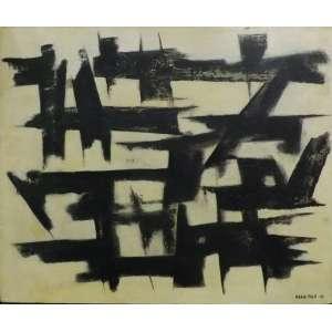Maria Polo<br>Abstrato <br>Oleo sobre tela - 1961 - 38 x 46 - assinado frente inferior direito