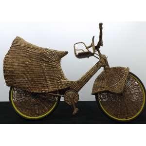 Jarbas Lopes<br>Ciclovia Aérea<br>Bicicleta em vime - 185 x 110 x 070