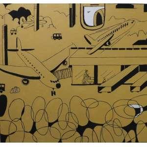 Marco Veloso<br>Acima e dentro de mim<br>Oleo sobre tela - 2013 - 130 x 140 - Assinado e datado 2013