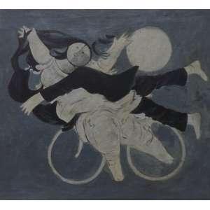 Milton da Costa<br>Rapto<br>Oleo sobre tela - 1965 - 34 x 38 - Assinado e datado