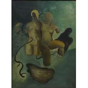 Ismael Nery<br>Sem titulo<br>Oleo sobre tela - 38 x 28 - assinado frente inf direito