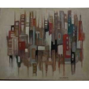 Ione Saldanha<br>Sem titulo<br>Oleo sobre tela - 40 x 50 - assinado frente inf direito