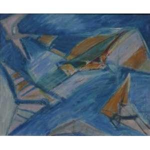 Rubens Gerchman<br>São Conrado<br>Acrílica sobre tela - déc. 80 - 21 x 25 - Assinado