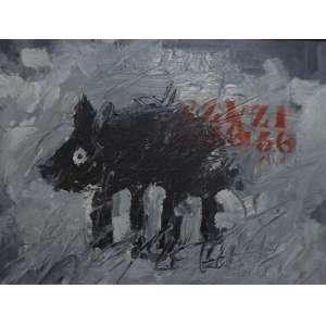 Manuel Zumbado<br>Sem título<br>Acrílica sobre tela - 1992 - 49 x 65 - Assinado e datado 1992- Costa Rica