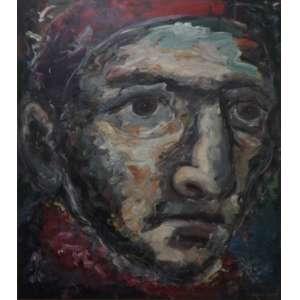 Adonay Duque<br>Sem título<br>Acrílica sobre tela - 1992 - 169 x 149 - Assinado e datado 1992 inferior direito