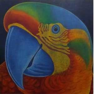 Cláudio Tozzi<br>Papagalia<br>Acrílica sobre tela - 120 x 120 - Assinado