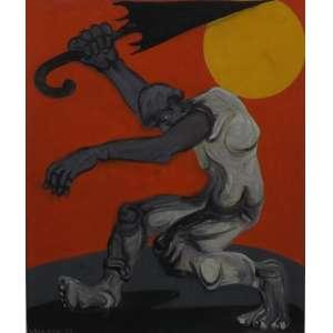 Cloves Graciano<br>Sem titulo<br>Oleo sobre tela - 1979 - 64 x 53 - assinado e datado frente inf esquerdo