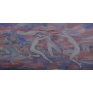 Enrico Bianco<br>A Dança<br>Acrílica sobre tela - 2009 - 60 x 120 - Assinado e Datado