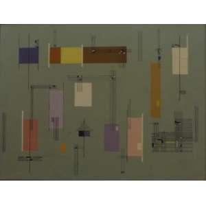 Maria Helena Andres<br>Concreto<br>Oleo sobre tela - 1952 - 42 x 95 - assinado e datado