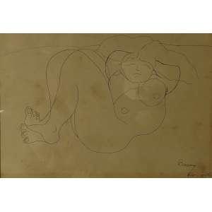 Artur Barrio<br>Sem título<br>Desenho sobre papel - 1968 - 29 x 42 - Assinada e datada Rio, 12/5/68 inferior direito - com mofo