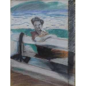 Rubens Gerchman<br>Sem título<br>Desenho sobre papel - déc. 70 - 29 X 22 - desenho da mãe do artista