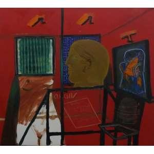 Siron Franco<br>Galeria de Artes<br>Óleo sobre Tela - 1988 - 90 x 90 - Assinado e datado