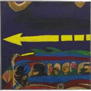 Rubens Gerchman<br>Viação<br>Óleo sobre madeira - 1962 - 28 x 28 - assinado e datado frente inferior direita - assinado e datado