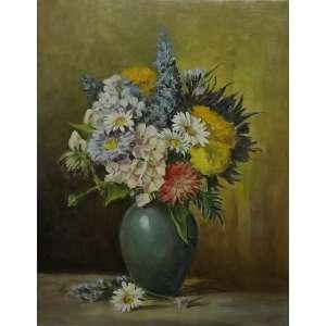 Anita Malfatti<br>Vaso de Flores<br>Oleo sobre tela - 64 x 49 - assinado frente inferior esquerdo