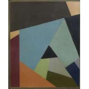 Ubi Bava<br>Sem titulo<br>acrilico sobre papel - 1956 - 24 x 29 - assinado frente inferior direito - Com selo da Petit Galerie
