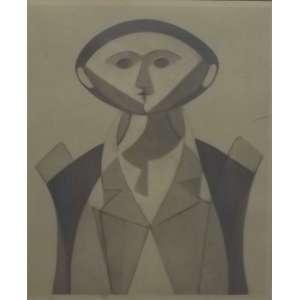 Milton da Costa<br>Figura P.E.<br>Litografia - 50 x 42 - assinado frente inferior direito - assinado - autenticado pela galeria